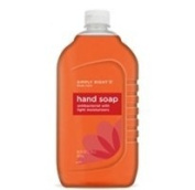 SIMPLY RIGHT ANTIBACTERIAL HAND SOAP 2370ml SIZE BOTTLES (640 OUNCES TOTAL)