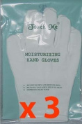 Touch Me Moisturising Hand Gloves, 90% Cotton / 10% Spandex Set of 3 Pairs