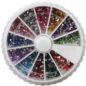 12 type decoration tips colourful shiny powder nail art