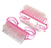 2PC Nail Art Dust Clean Brush After File Manicure