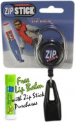 Clip-On Retractable ZIP Stick - Black (Extends 81.3cm ) Fits all Standard Stick-Type Lip Balms and Lip Gloss