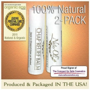 NaturOli All Natural Chap Relief Lip Balm - 2 Pack!