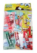 Spongebob Flavoured Lip Balm Individually Carded Party Bag Six Count Flavours Include Strawberry, Watermelon, Cherry, Berry, Fruit Punch & Apple