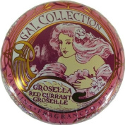 Red Currant Flavour Gal Spanish Lip Balm in Gold Art Nouveau Tin