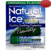 Mentholatum Natural Ice Medicated Lip Protectant SPF 15, Mentholatum 5ml Tubes