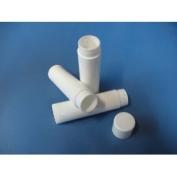 50 Lip Balm Tubes with Caps (WHITE) NEW