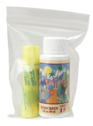 1oz. Sunscreen - Lip Kist -in Ziplock Bag - Sun Protection Sun Screen - Sun Block for Body and Lips - Natural UVA and UVB Sunblock