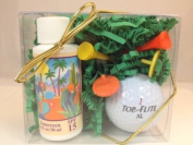 Arizona Sun Golf Set - Includes Sun Screen SPF 15 - Sun Protection - Golf Tees - Ball Markers - Golf Ball - Perfect Gift Idea For a Golfer