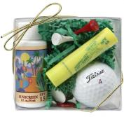 Arizona Sun Golf Set - Includes Sun Screen SPF 15 - Sun Protection - SPF 15 Lipkist Lipbalm - Sun Protection lip balm for lips - Golf Tees - Ball Markers - Golf Ball - Perfect Gift Idea For a Golfer