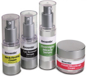 Reventin 4 - Piece Age Defying Set. Diminish Look of Wrinkles By 45% in 4 Weeks. Eye Renewal Serum. Overnight Miracle Serum (1oz) Neck Firming Cream (.5oz) Instant Microsculpt Cream