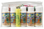 Cosmetic Travel Bag - Five - 30ml Skin Care - Plus Lipkist - Lipbalm - Skincare - Skin Care Idea - Soothing - Moisturising - Great Gift For Anyone - Any Occasion - Birthday - Holiday