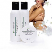 IQ Natural 3pc Daily Professional Pro Anti-Ageing System with Active Green tea Extract Full size