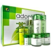 Korean Cosmetics_Adonis Green Tea Leaf 5pc Gift Set