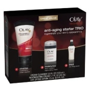 Olay Regenerist Skin Care Starter Trio Pack Formulated with an exclusive Olay Amino-Peptide +B3 complex, that renews skin's outer layer
