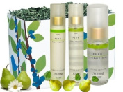L'eudine 4-piece Pear Scent Body Gift Set for Women:Forest Bird Gift Box, Pear Body Lotion, 150ml, Pear Body Mist, 150ml & Pear Antibacterial Hand Gel, 50ml