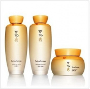 Korean cosmetic, Amore Pacific Sulhwasoo Balancing Water 125ml + Balancing Emulsion 125ml +Lifting Cream 75ml + FREE GIFTS