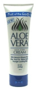 Fruit of the Earth Aloe Vera Cream 240ml Tube (3-Pack) with Free Nail File