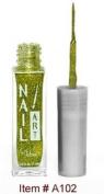 Nubar Nail Art Stripers Lime Green Glitter A102