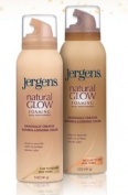 Jergens Natural Glow Foaming Daily Moisturiser Medium to Tan Skin Tones 180ml