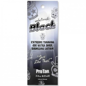 3 packets 2012 Pro Tan UNBELIEVABLY BLACK Extreme Tanning 25x Ultra Dark Bronzing Lotion .75z