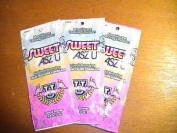 3 packets Sweet ASZ U Max Silicone 60xbronzer .75z