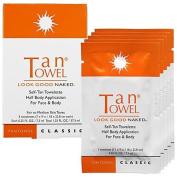 Tan Towel Half Body Classic Towelettes - 5 Per Pack - Fair to Medium