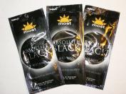 3 packets 2010 Absolute Black SHO 9000x 50X Quantum bronzers