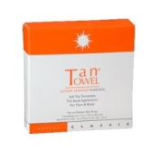 Tantowel Classic Full Body Self Tanning Towelette, 5 Pack, Fair to Medium Results