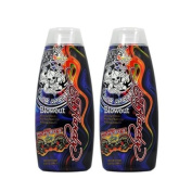 Lot 2 Ed Hardy Blowout Indoor Tanning Lotion Accelerator Bronzer Dark Tan Bed