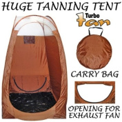 Brown Coloured Professional Airbrush and Turbine Spray Tanning Tent Booth with Nylon Carrying Bag