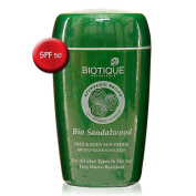 Biotique Sandalwood Face and Body suncream SFP 50 UVA/UVB sunscreen