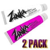 Zinka Coloured Sunblock Zinc Nosecoat 2 Pack Bundle - White Pink