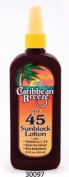 Caribbean Breeze-SPF 45 SunScreen Spray Lotion, 8.5 oz
