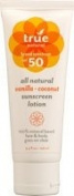 Lotion SPF 50 - Vanilla - Coconut True Natural 100ml Lotion