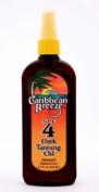 Caribbean Breeze-SPF 4 Dark Tanning Spray Oil, 8.5 oz