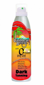 Caribbean Breeze-SPF 0 Dry Oil Continuous Tropical Mist Dark Tanning SunScreen, 6 oz (177 ml