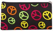 Peace Sign Multi Colour Cosmetic Bag Small