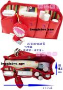 BDS - Red Travel Toiletry Cosmetic Makeup Bag Organiser