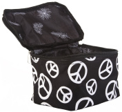 Black Peace Sign Cosmetic Makeup Case