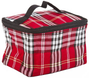 Red Plaid Cosmetic Makeup Case