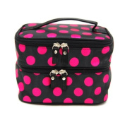 Double Layer Cosmetic Bag with Mirror