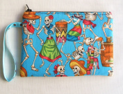 Day of Death Blue Pouch or Cosmetic Bag
