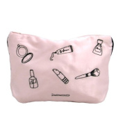 Amelie Make up Embroidered Cosmetic Bag - Pink