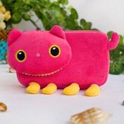 [Pink Kitty] Medium Plush Gadget Cosmetic Bag / Camera bag / Hand Purse Wallet