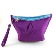 Vibrant Cosmetic Bag / Mini Clutch - Purple