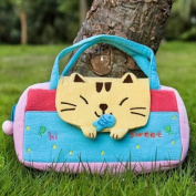 [Sweet Cat] Embroidered Applique Kids Mini Handbag / Cosmetic Bag / Travel Wallet