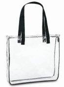 Clear Tote Bag with Black Handles