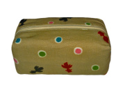 Goldfish Beige Japanese Kimono Print Cosmetic Pouch