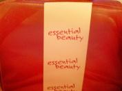 Essential Beauty Zippered Cosmetic Case w/ Handle -- Dark Red -- 22.2cm x 17.8cm x 7.6cm