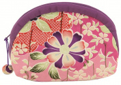 Cherry Blossom Japanese Kimono Fuwafuwa Half Moon Pouch